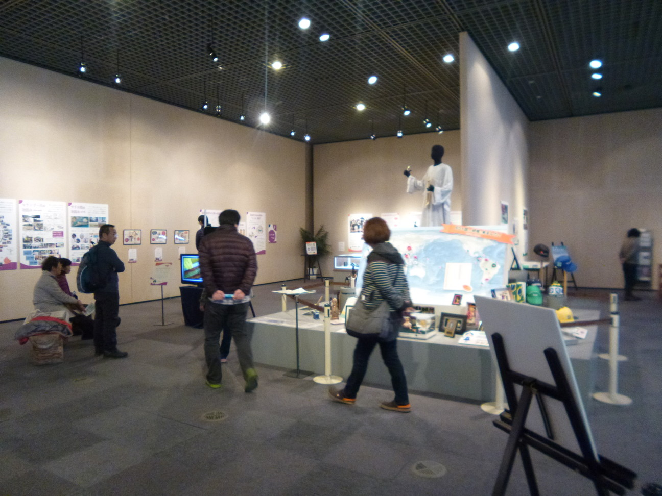 exhibition with visitors